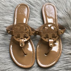 Tory Burch Shoes - Tory Burch Miller Patent Leather Sandals 9